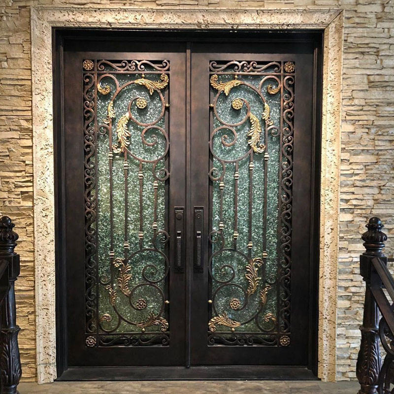 Latest design wrought iron interior door for entrance