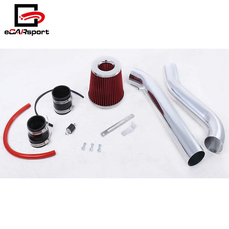 Big Mouth Short Air Intake Kit With Filter Flared Piping For Civic EG EK Red