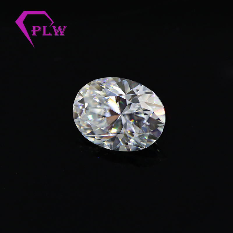 DEF color 5x7mm 1 carat oval cut moissanite for engagement ring