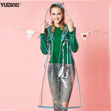 New Design EVA 0.18mm transparent clear plastic raincoat for adult