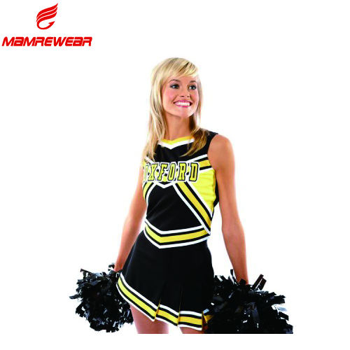 Custom all star cheerleading uniforms top rhinestones sublimation girls cheerleader clothes hot cheer dance costume uniform kids