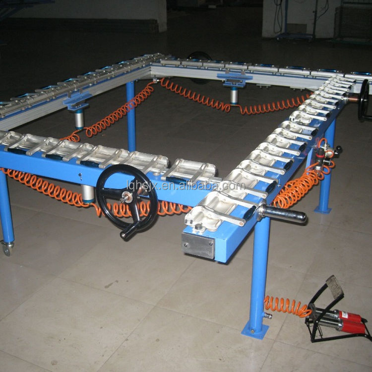 Best price pneumatic screen printing /screen mesh stretching machine&mesh pulling machine for sale