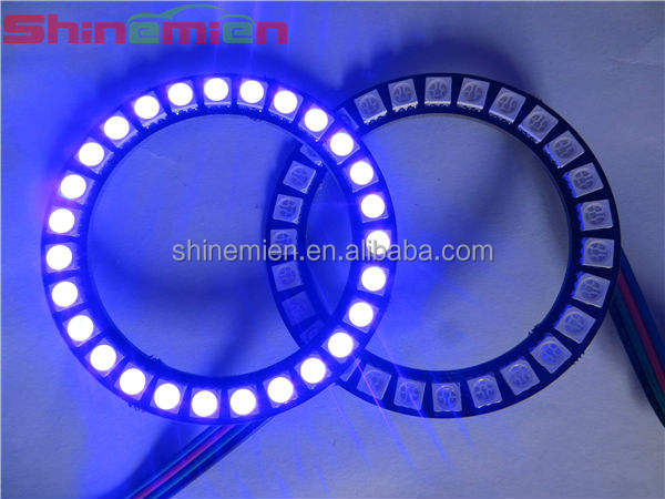 5050 led smd rgb color angelo occhio alone anelli fari auto 40mm 50mm 60mm 70mm 80mm 90mm 100mm