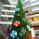 outdoor christmas decoration big PVC metal frame artificial giant christmas tree with candy ornaments