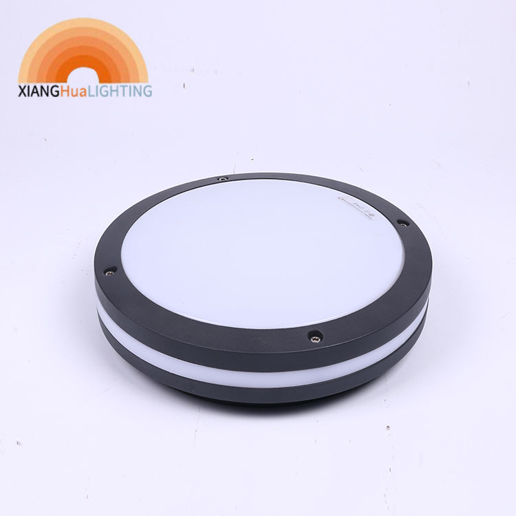 IP65 10W round squire black LED Bulkhead wall light fitting