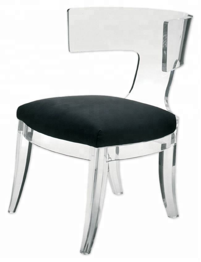 Hot Sale Luxury Acrylic Crystal Lucite Plastic Dining Chair for Living Room