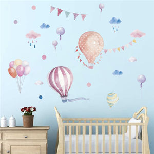 Cartoon balloon wall sticker children's room nursery kids bedroom decoration pvc adhesive waterproof wall murals decal