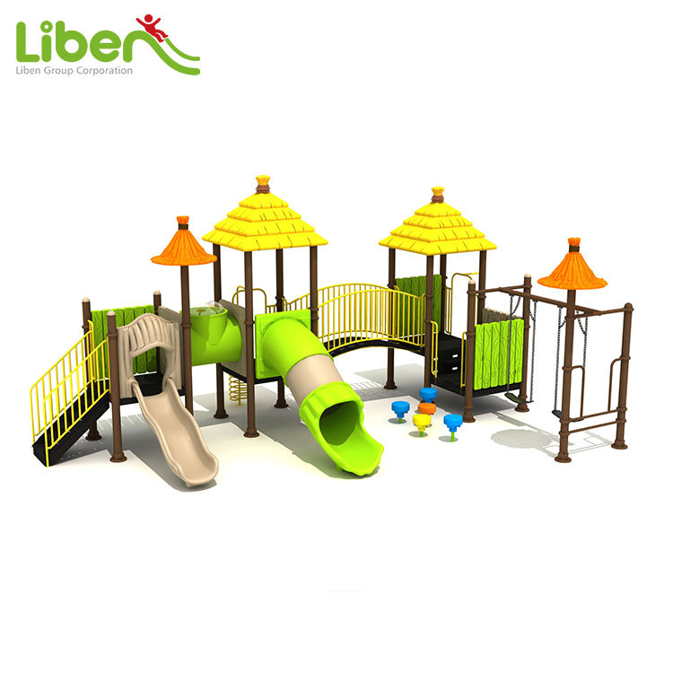 Straw House Series Kids Outdoor Small Playground Modular Play System, Outdoor Child Park Product