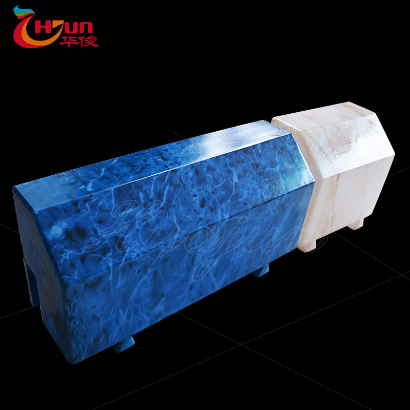 Outdoor illuminated Traffic road side plastic concrete led curbstone lights