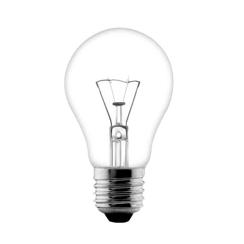 Incandescent bulb PS60 PS55 25w 40w 75w 100w single coil E27 B22 frosted bulb