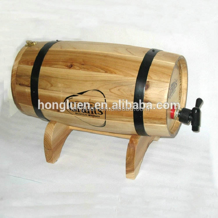 Natural Handcraft Antique Cask Original Oak Pine Wooden Barrel for Wine Beer Storage