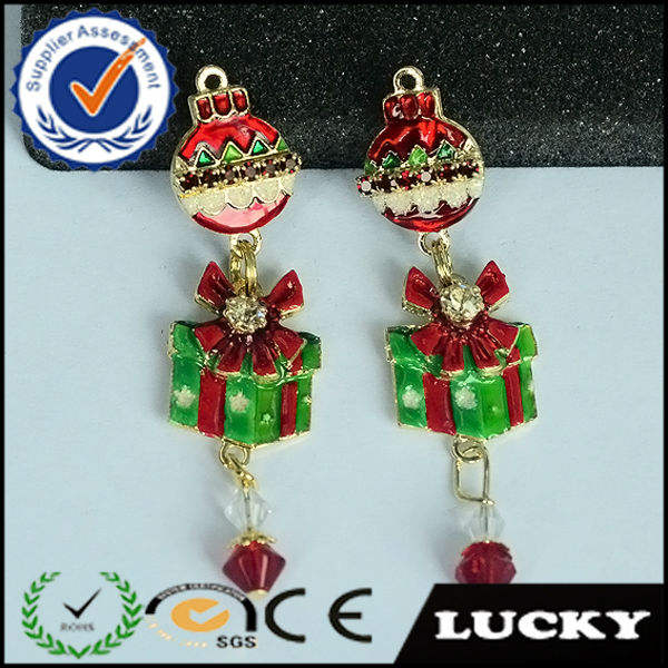 2018 fashion unique design earring wholesale Christmas present jewelry