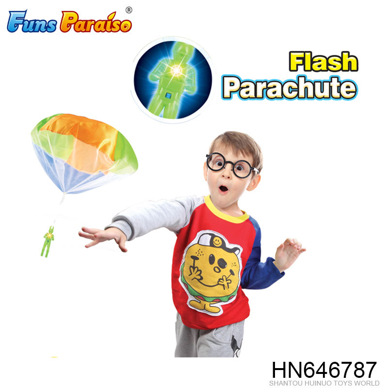 Children outdoor play game flashing mini parachute toy HN646787