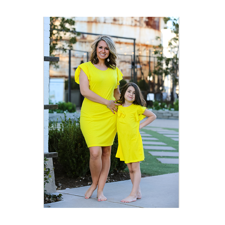 European Style Fashion Family Clothing Set Mother Daughter Matching Clothes Set Mommy and Me Outfits