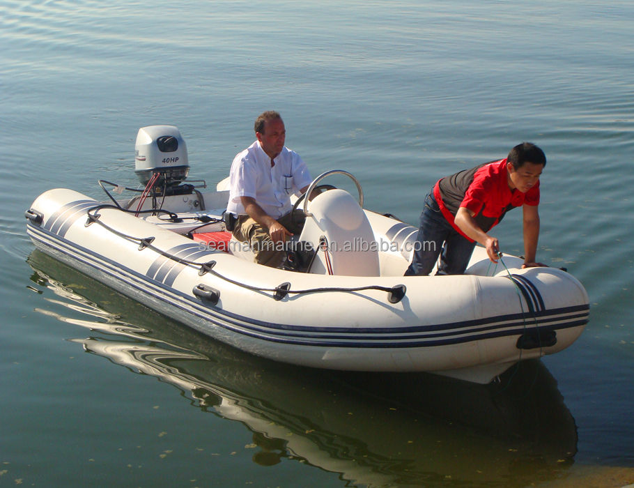 The CE approved 4.7m inflatable rigid RIB BOAT with high pressure hypalon or pvc air tube