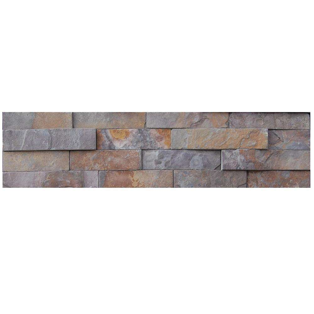 Cheap Manufacturer Rusty Natural Slate Exterior Stone Wall Tiles