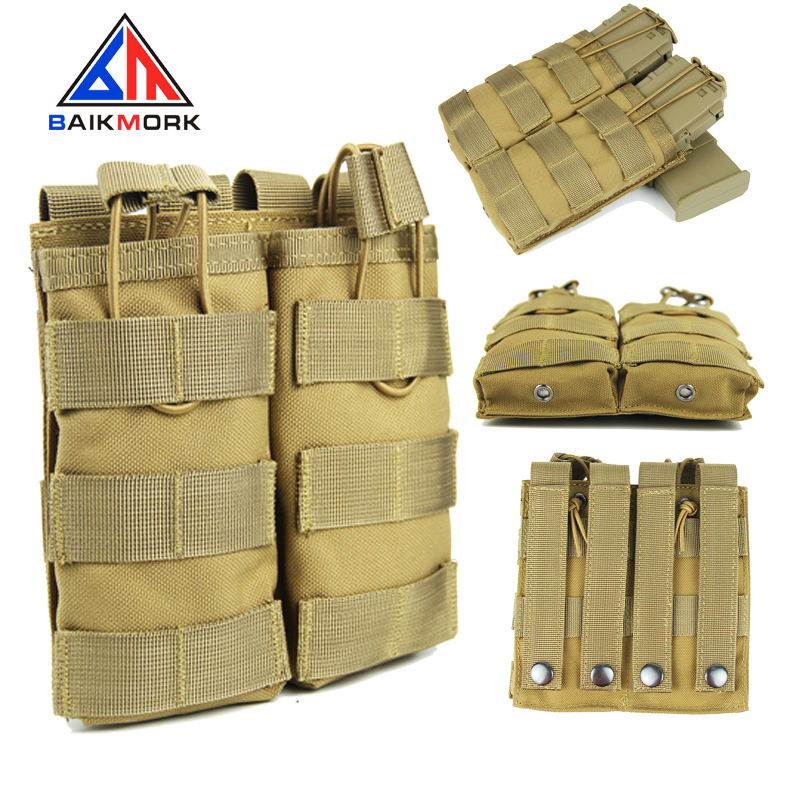 Outdoor Tactical 두 번 M4 Magazine Pouch Hunting 군 Molle Ammo Clip Pouch 액세서리 Pocket bag