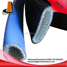 Silicone fiberglass fire sleeve for hoses wires lines tubes protective