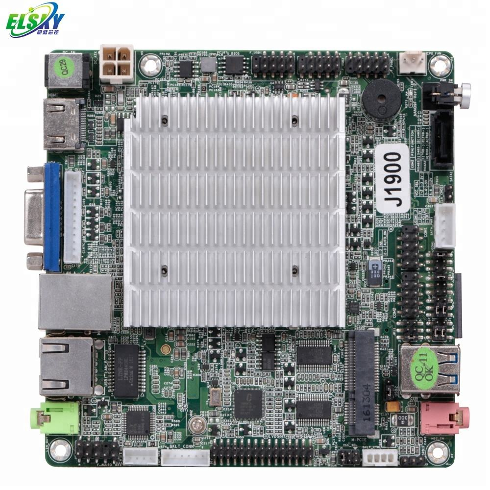 Intel Dual Cores LAN 8USB NANO-ITX 120*120mm Fanless Motherboard for Computer.