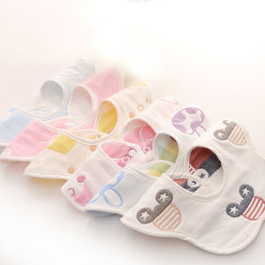 Good quality 100% cotton baby bib 360 cloth wipes best baby bibs