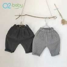 Q2-baby Infant Toddlers Clothing Cotton Full Length Pants Baby Cotton Trouser