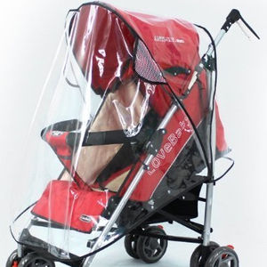 Baby Stroller Raincover Baby Pushchair Buggy Carrier Transparent Rain Cover