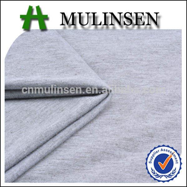 Mulinsen têxtil tingido planície malha stretch 100% poliéster francês terry tecido de lã para roupas esportivas