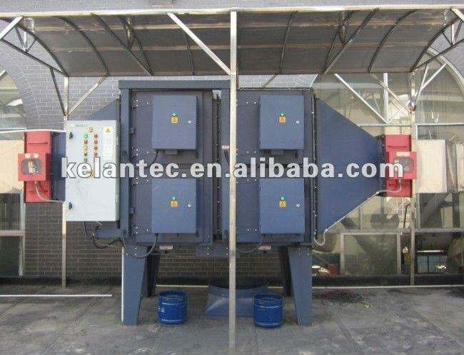 Precipitador para la eliminación de plastificante de gases orgánicos