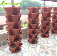 Vertical hydroponic flower pots tower garden