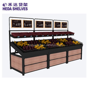 Guangzhou Fabriek Supermarkt Groente Fruit Display Rack