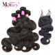 Online Shopping 4 Bundles and Lace Closure Wholesale Virgin Brazilian Human Hair Extensions Dropshipping