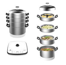 Factory supply custom high quality stainless steel 316 electric chinese food steamer