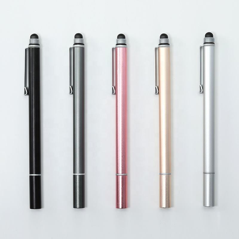 stainless steel stylus pen for ipad new stylus pen for touch screen 2 in 1 promotional pen with screen stylus