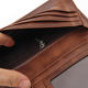 Genuine Crazy Horse Men Wallet Genuine Crazy Horse Leather Long Purse RFID Protect Men Wallet
