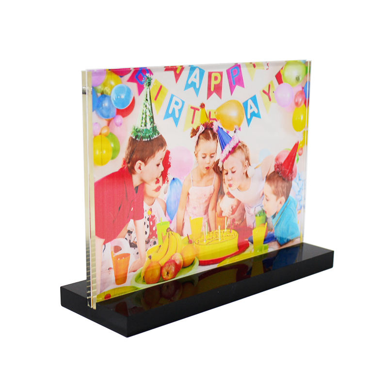 Clear acrylic free standing photo frame display stand acrylic t-type sign holder pedestal 8.5x11 11x17 5x7 4x6 inches