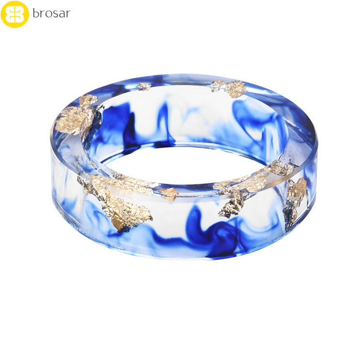 New Design Handmade Resin Ring Flowers Plants Inside Jewelry New Novelty Ring Anniversary Ring