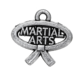 Wholesale Factory Cheap DIY Custom Logo Jewelry Accessories Metal Antique Silver Finished Karate Martial Arts Pendant Charm18643