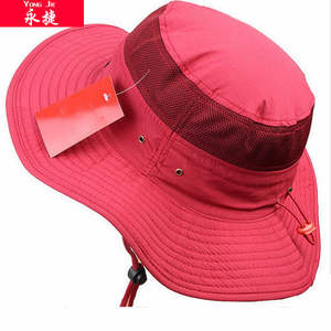 Archivio!!! fashion design di alta qualità di estate all'aperto red mesh ventilato safari bucket hat