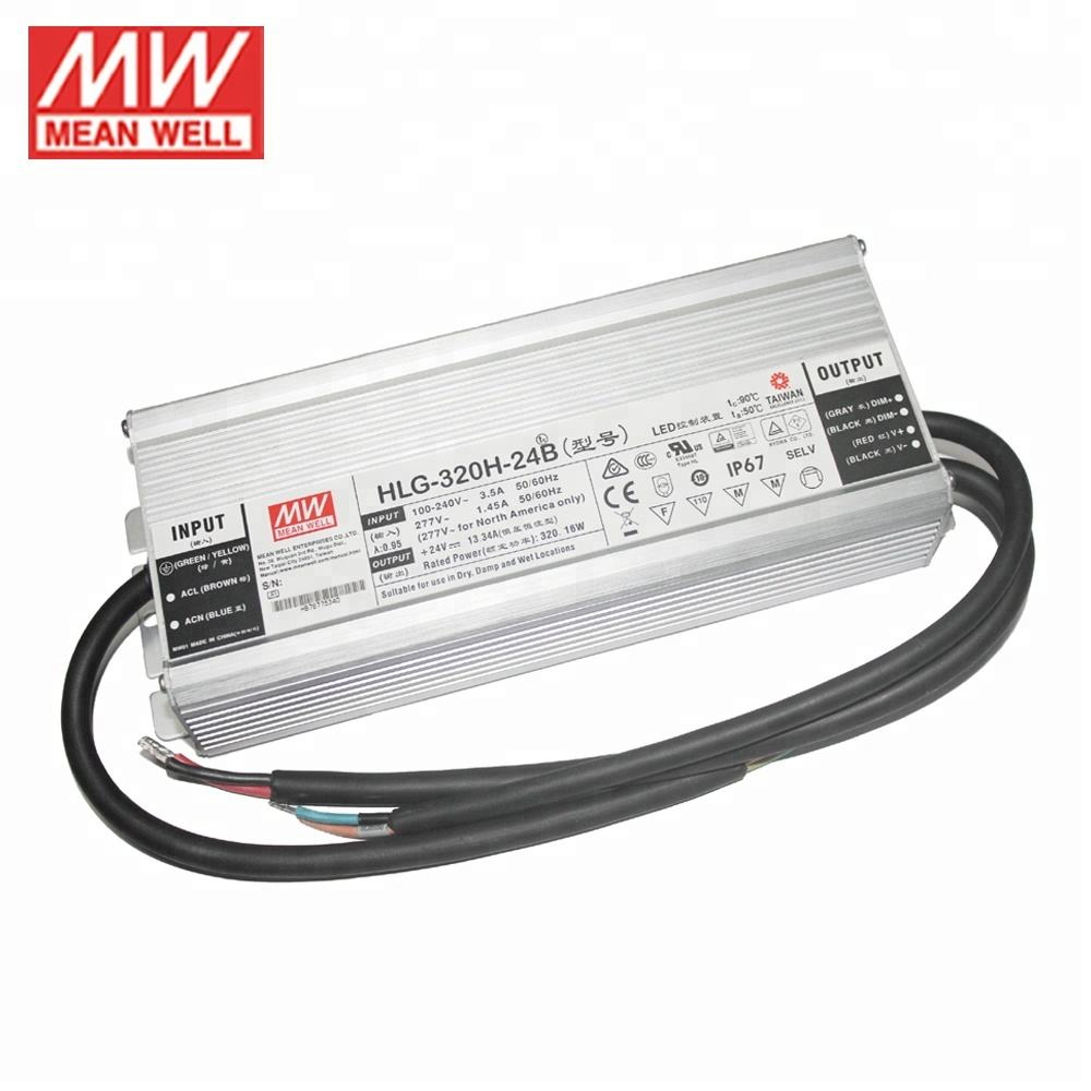 Meanwell Fabrikant HLG-320H-36 320W 36V Pwm <span class=keywords><strong>Dimbare</strong></span> Led Schakelende Voeding En Waterdichte Led Driver IP67