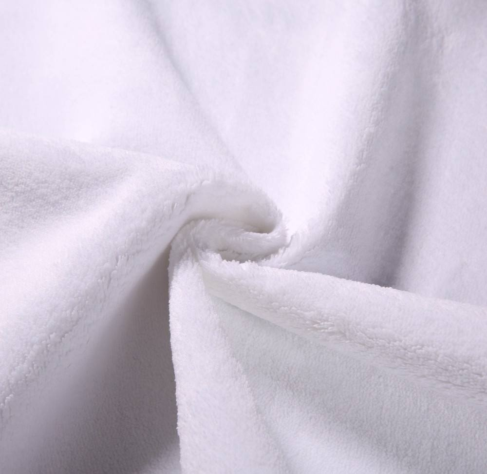 100% Polyester TPU Laminated Waterproof Coral Fleece Fabric for Bedding