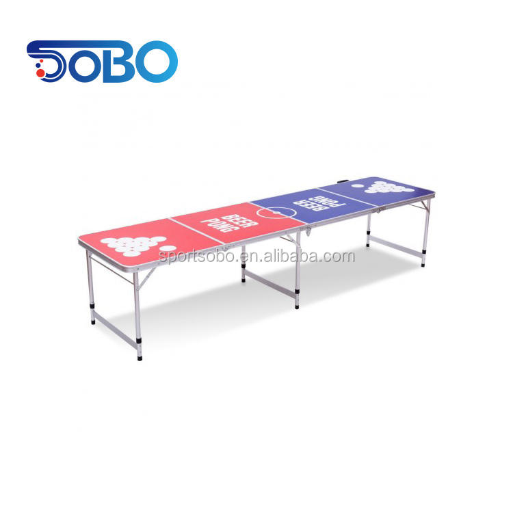 8ft Folding Aluminum Beer Ping Pong Table