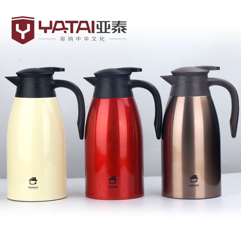 High Quality Wholesale 2000ml 304Stainless Steel Double Wall Vacuum Insulated Thermoses Flasks Coffee Pot with Handle