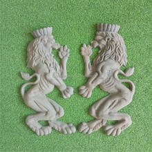 cast iron parts wrought iron arts and crafts lion metal gate decoration