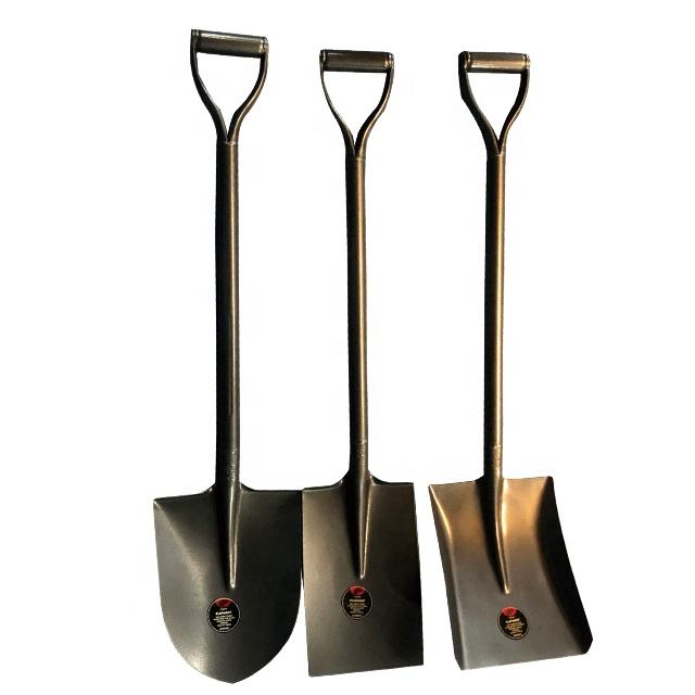 Nigeria market cream and black colour steel handle shovel spade