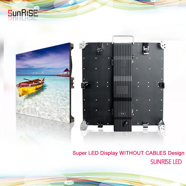 Sunrise new kabel freies drahtlose led-anzeige ohne kabel außerhalb HD videowand led-anzeige