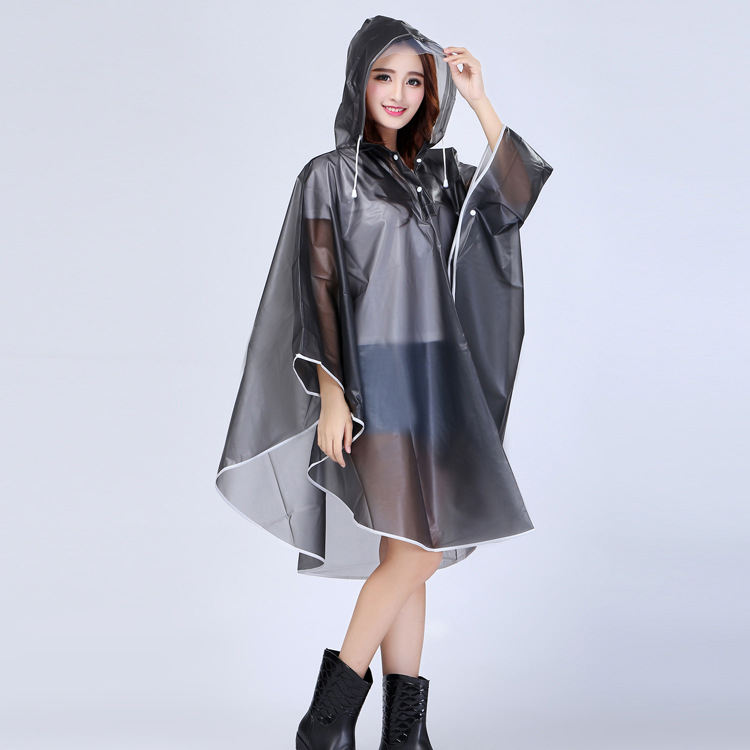 high quality Promotional outdoor travel waterproof rubber rain coat custom logo rain coat with hood