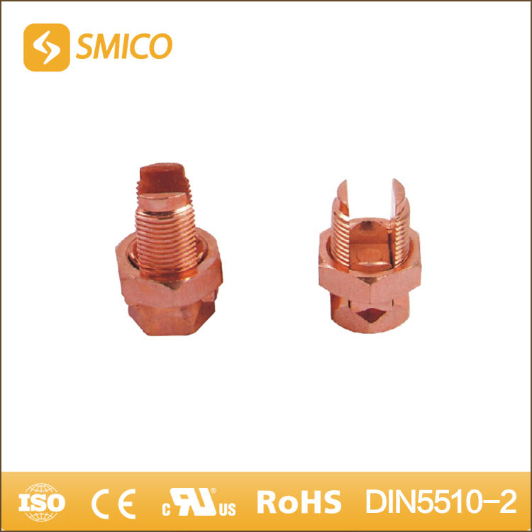 SMICO Production Products Brass / Copper Bolt Ground Wire Line Tap Connectors