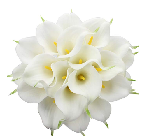 Calla Bridal Wedding Bouquet Hoofd Latex Real Touch Bloemboeketten
