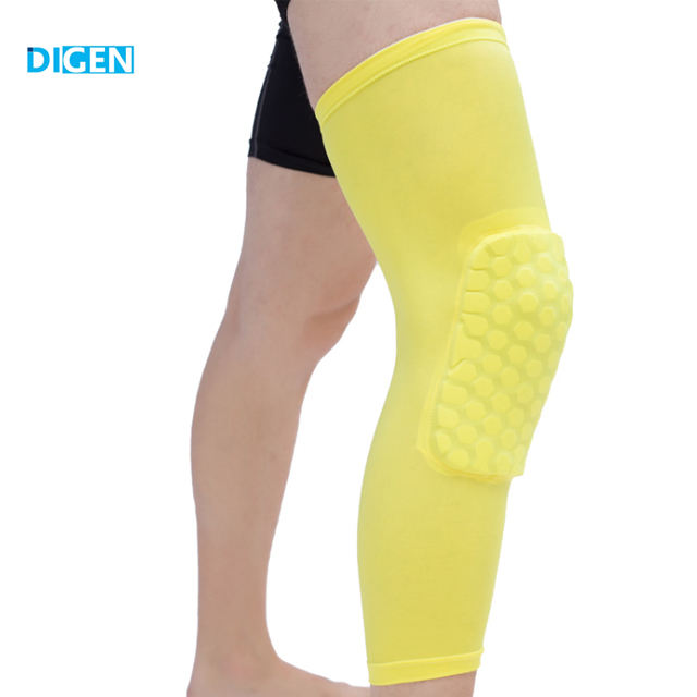 Factory supplier elastic spandex knee compression brace sleeve support pad for basketball