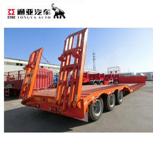 3 axles heavy duty low bed semi trailer